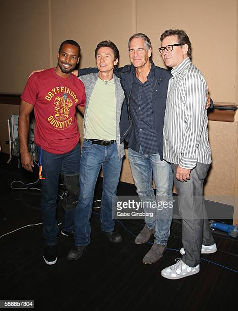 Actors Anthony Montgomery Dominic Keating Scott Bakula and Connor Trinneer attend the 15th annual official Star Trek convention at the Rio Hotel...