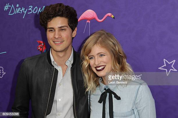 Actors Anthony Padilla and Miel attends Premiere Of Lionsgate's 'Dirty 30' Arrivals at ArcLight Hollywood on September 20 2016 in Hollywood California