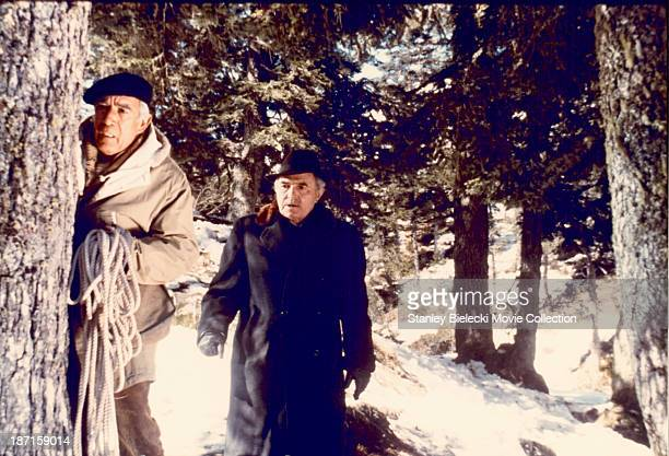 Actors Anthony Quinn and James Mason in a scene from the movie 'The Passage' 1979