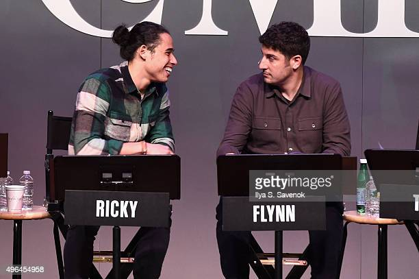 Actors Anthony Ramos and Jason Biggs perform onstage during 'Black List Live A Reading Of Hosers An AsYetUnproduced Sitcom featuring Jason Biggs...