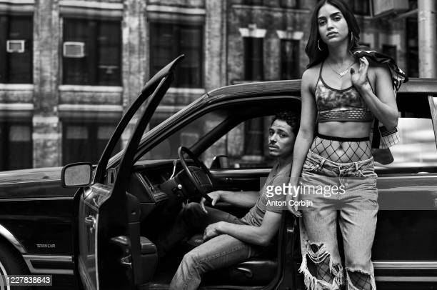 Actors Anthony Ramos and Melissa Barrera pose for a portrait on August 1 2018 in Brooklyn New York