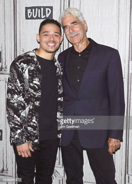 Actors Anthony Ramos and Sam Elliott attend the Build Series to discuss A Star Is Born at Build Studio on October 3 2018 in New York City