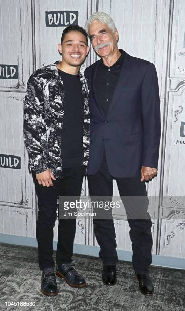 Actors Anthony Ramos and Sam Elliott attend the Build Series to discuss 'A Star Is Born' at Build Studio on October 3 2018 in New York City