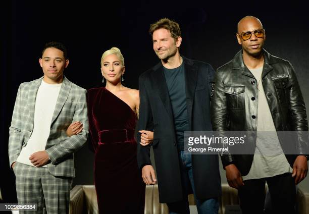 Actors Anthony Ramos Lady Gaga director Bradley Cooper and actor Dave Chappelle attend 2018 Toronto International Film Festival 'A Star Is Born'...