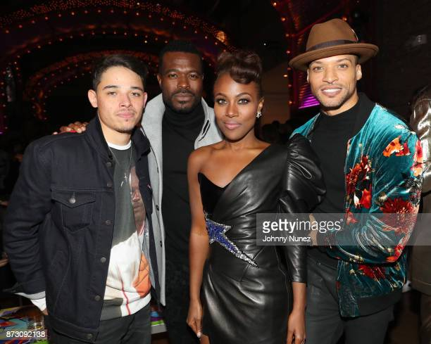 Actors Anthony Ramos Lyriq Bent DeWanda Wise and Cleo Anthony attend Netflix Original Series 'She''s Gotta Have It' Premiere and After Party at BAM...