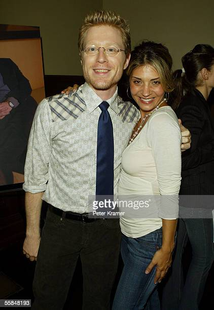 Actors Anthony Rapp and Callie Thorne attend Gotham magazine party to celebrate the October men's fashion issue on October 3 2005 in New York City