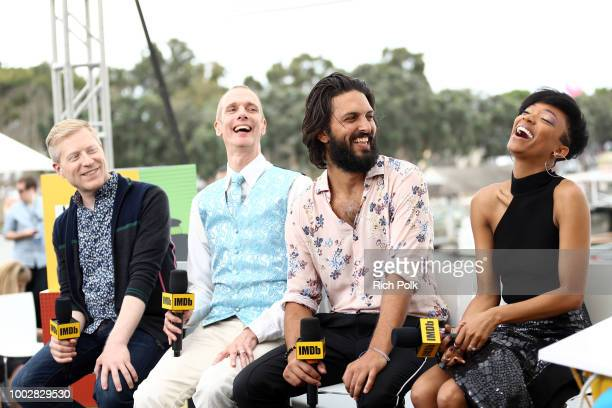 Actors Anthony Rapp Doug Jones Shazad Latif and Sonequa MartinGreen attend the #IMDboat At San Diego ComicCon 2018 Day Two at The IMDb Yacht on July...