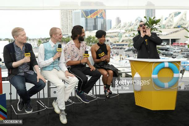 Actors Anthony Rapp Doug Jones Shazad Latif Sonequa MartinGreen and host Kevin Smith attend the #IMDboat At San Diego ComicCon 2018 Day Two at The...