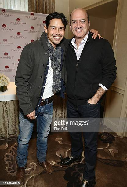 Actors Anthony Ruivivar and Matt Servitto attends the HBO Luxury Lounge featuring PANDORA Jewelry at Four Seasons Hotel Los Angeles at Beverly Hills...