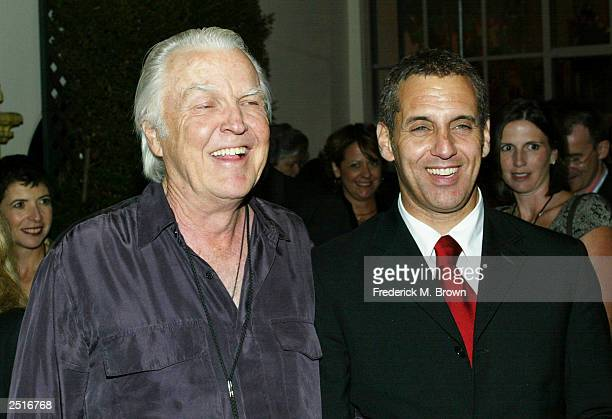 Actors Anthony Zerbe and Vincent Riotta attend the after party for the film premiere of Under The Tuscan Sun at the Roosevelt Hotel on September 20...
