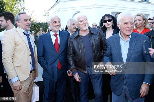 Actors Antoine Dulery JeanPaul Belmondo Singer Hugues Aufray and Humorist Guy Bedos attend Museum Paul Belmondo celebrates its 5th Anniversary on...