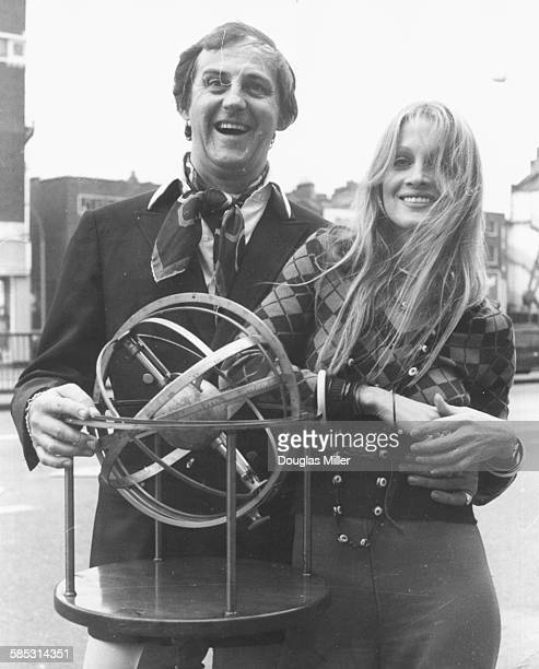 Actors Anton Rodgers and Anouska Hempel promoting their new Thames Television show 'Zodiac' London September 26th 1973