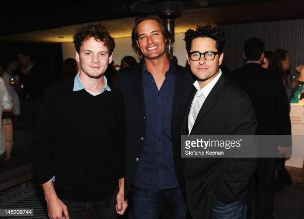Actors Anton Yelchin Josh Holloway and producer JJ Abrams attend an evening of cocktails and shopping to benefit the Children's Defense Fund hosted...