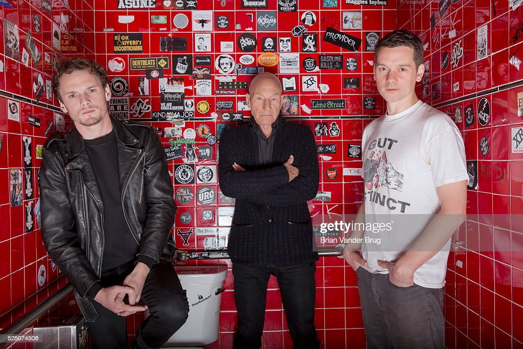 Anton Yelchin, Patrick Stewart and Jeremy Saulnier, LA Times, April 24, 2016