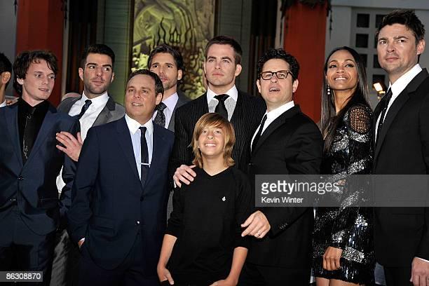 Actors Anton Yelchin Zachary Quinto executive/producer Bryan Burk Eric Bana Chris Pine Jimmy Bennett director/producer JJ Abrams actors Zoe Saldana...