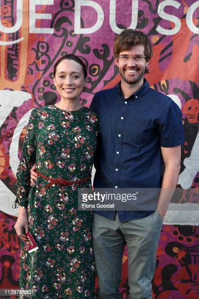 Actors Antonia Prebble and Dan Musgrove attend the opening night of Cirque du Soleil KOOZA on February 15 2019 in Auckland New Zealand