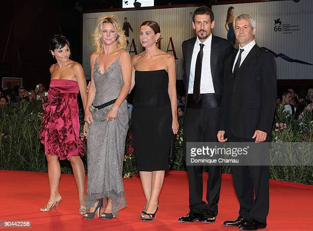 Actors Antonia Truppo Margherita Buy director Francesca Comencini Gaetano Di Vaio and producer Domenico Procacci attend the Lo Spazio Bianco Premiere...