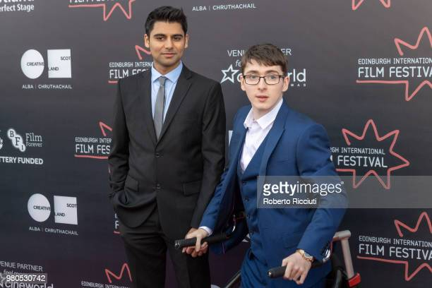 Actors Antonio Aakeel and Jack Carroll attend a photocall for the World Premiere of 'Eaten by Lions' during the 72nd Edinburgh International Film...