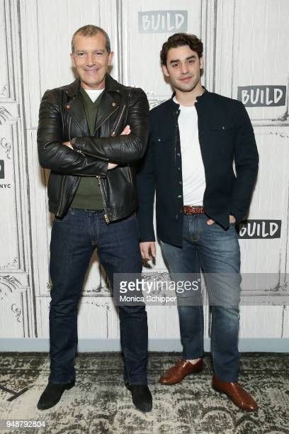 Actors Antonio Banderas and Alex Rich visit Build Studio to discuss National Geographic's anthology 'Genius Picasso' on April 19 2018 in New York City