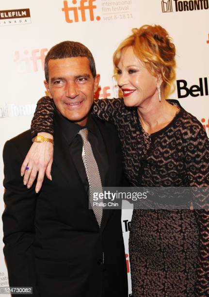 Actors Antonio Banderas and Melanie Griffith attend the premiere of The Skin I Live In at Princess of Wales during the 2011 Toronto International...