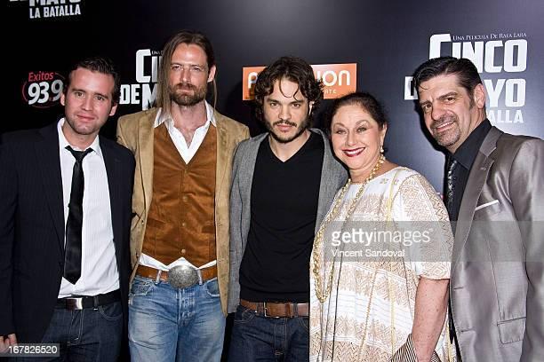 Actors Antonio Merlano William Miller Kuno Becker Angelica Aragon and Jose Carlos Montes attend the Los Angeles special screening of Cinco De Mayo LA...