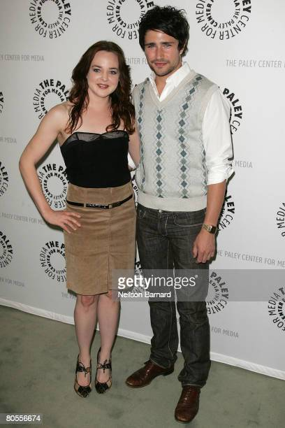 Actors April Matson and Matt Dallas attend The Payley Center for Media Presents This April 2008 Kyle XY at The Paley Center on April 7 2008 in...