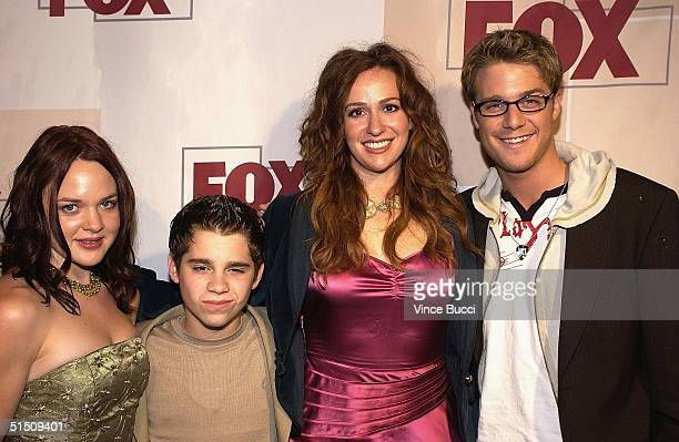 Actors April Matson Ryan Pinkston Rebecca Creskoff and Jake McDorman attends the Fox Fall Season Launch Event at Central October 19 2004 in West...