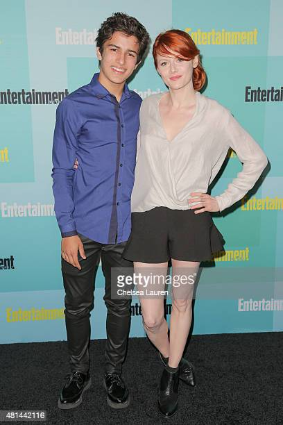 Actors Aramis Knight and Emily Beecham arrive at the Entertainment Weekly celebration at Float at Hard Rock Hotel San Diego on July 11 2015 in San...