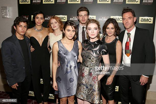 Actors Aramis Knight Madeleine Mantock Emily Beecham Ally Ioannides Oliver StarkSarah Bolger Orla Brady and Marton Csokas attend AMC's 'Into The...