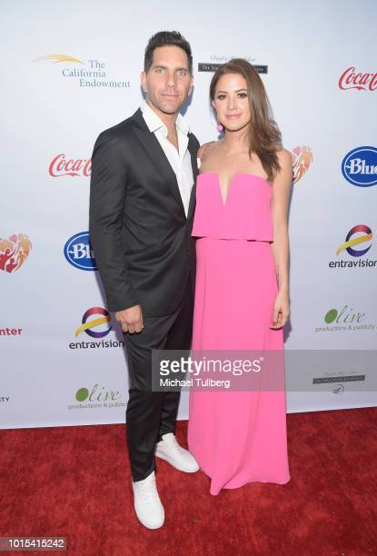 Actors Arap Bethke and Ivana de Maria attend the Champion For Children Gala and Awards celebration at Sportsman's Lodge on August 11 2018 in Los...