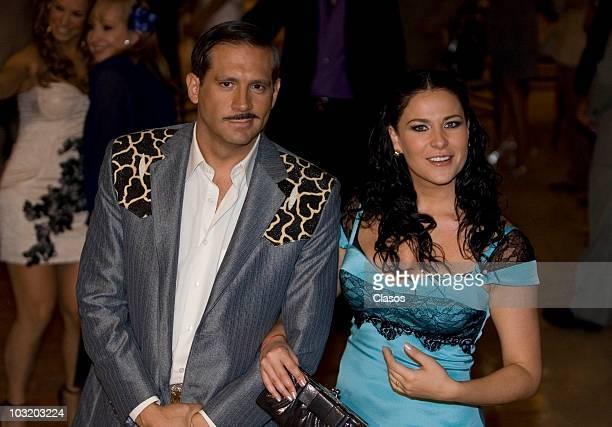 Actors Arath de la Torre and Arleth Teran shoot the last chapter of Zacatillo soap opera on July 23 2010 in Mexico City Mexico