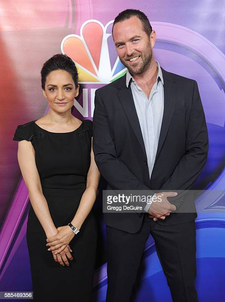 Actors Archie Panjabi and Sullivan Stapleton arrive at the 2016 Summer TCA Tour NBCUniversal Press Tour Day 1 at The Beverly Hilton Hotel on August 2...