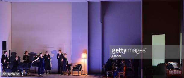 Actors are seen during the photo rehearsal of 'Charlotte Salomon' at Felsenreitschule on July 24 2014 in Salzburg Austria