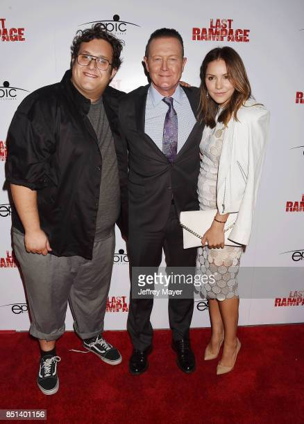 Actors Ari Stidham, Katharine McPhee and Robert Patrick attend the Premiere Of Epic Pictures Releasings' 'Last Rampage' at ArcLight Cinemas on...