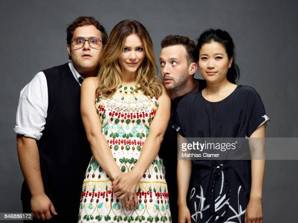 Actors Ari Stidham Katharine McPhee Eddie Kaye Thomas and Jadyn Wong from 'Scorpion' are photographed for Entertainment Weekly Magazine on July 21...