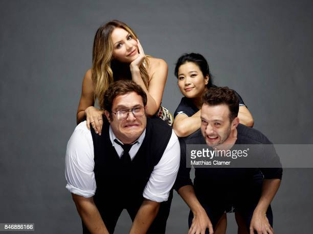 Actors Ari Stidham Katharine McPhee Jadyn Wong and Eddie Kaye Thomas from 'Scorpion' are photographed for Entertainment Weekly Magazine on July 21...