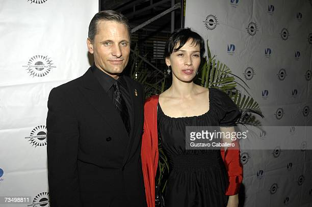 Actors Ariadna Gil and Viggo Mortensen pose before the screening of Alatriste at the Gusman Theater during the Miami International Film Festival...