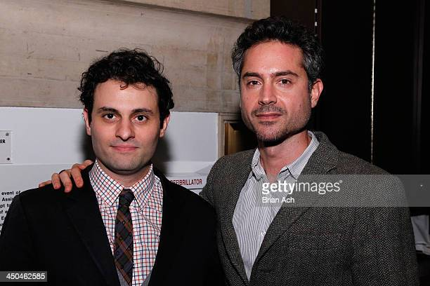 Actors Arian Moayed and Omar Metwally attend The 2013 Steinberg Playwright 'Mimi' Awards presented by The Harold and Mimi Steinberg Charitable Trust...