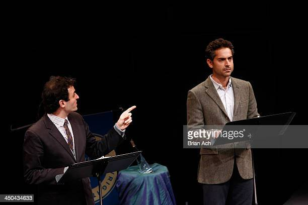 Actors Arian Moayed and Omar Metwally perform onstage at The 2013 Steinberg Playwright 'Mimi' Awards presented by The Harold and Mimi Steinberg...