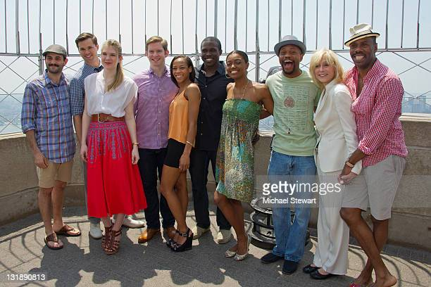 Actors Arian Moayed Andrew Rannells Lily Rabe Rory O'Malley Nikki M James Joshua Henry Patina Miller Forrest McClendon Judith Light and Colman...