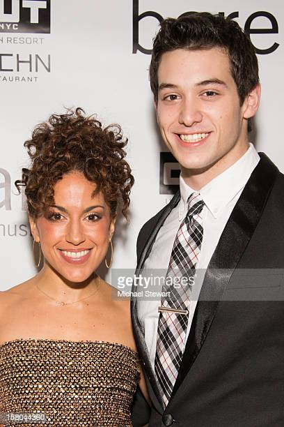 Actors Ariana Groover and Casey Garvin attends BARE The Musical Opening Night After Party at Out Hotel on December 9 2012 in New York City