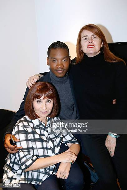 Actors Ariane Ascaride Ahmed Drame and Director MarieCastille MentionSchaar present the movie 'Les Heritiers' during the 'Vivement Dimanche' French...