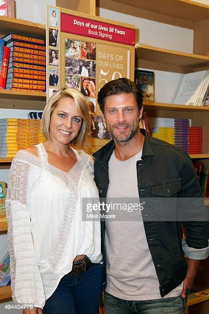 Actors Arianne Zucker and Greg Vaughan attend the Days Of Our Lives Book Signing at Changing Hands Book Store on October 26 2015 in Tempe Arizona