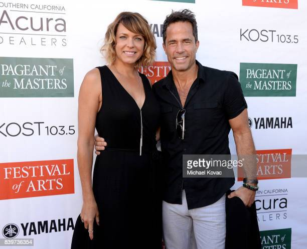 Actors Arianne Zucker and Shawn Christian attend the Festival of Arts Celebrity Benefit Event on August 26 2017 in Laguna Beach California