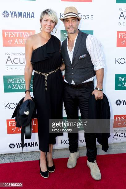 Actors Arianne Zucker and Shawn Christian attend the Laguna Beach Festival of Arts/ Pageant of The Masters Celebrity benefit concert and pageant on...