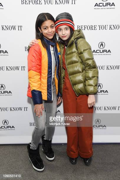 Actors Arica Himmel and Oona Yaffe attend the 'Before You Know It' party at Acura Festival Village At The Sundance Film Festival 2019 on January 27...