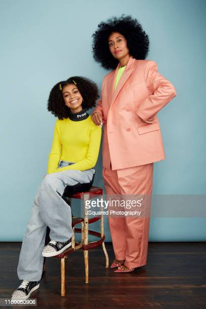 Actors Arica Himmel and Tracee Ellis Ross of ABC's 'Mixedish' pose for a portrait during the 2019 Summer TCA Portrait Studio at The Beverly Hilton...
