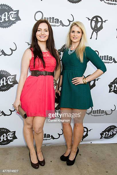 Actors Ariel Teal Toombs and Christina Blevins arrive at the 'Storage Wars' Season 4 Premiere Party at Now Then on March 8 2014 in Orange California