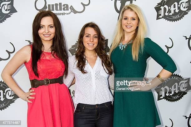 Actors Ariel Teal Toombs Jessica Rosenwald and Christina Blevins arrive at the 'Storage Wars' Season 4 Premiere Party at Now Then on March 8 2014 in...