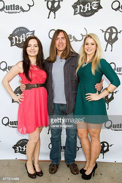 Actors Ariel Teal Toombs Jim Mitchell and Christina Blevins arrive at the 'Storage Wars' Season 4 Premiere Party at Now Then on March 8 2014 in...